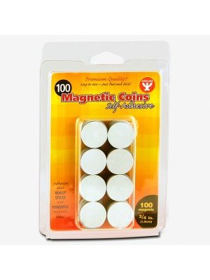 Hygloss Self-Adhesive Magnetic Coins - 0.8