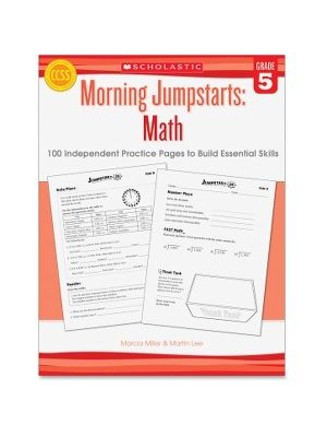 Scholastic Res. Grade 5 Morning Jumpstart Math Workbook Education Printed Book for Mathematics - Book - 2 Pages