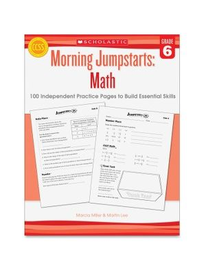 Scholastic Res. Grade 6 Morning Jumpstart Math Workbook Education Printed Book for Mathematics - Book - 2 Pages