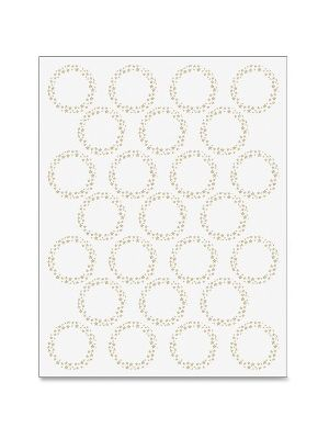 Geographics Gold Star Foil Seals - Round - 1.25