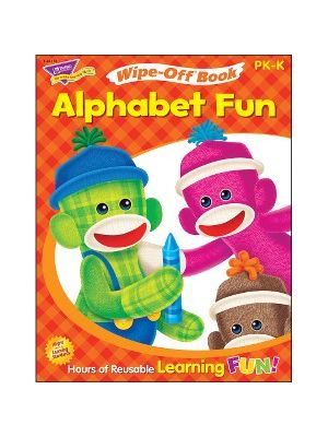 Trend Alphabet Fun Sock Monkeys Book Learning Printed Book - Book - 28 Pages