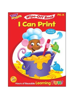Trend I Can Print Wipe-off Book Learning Printed Book - Book - 28 Pages