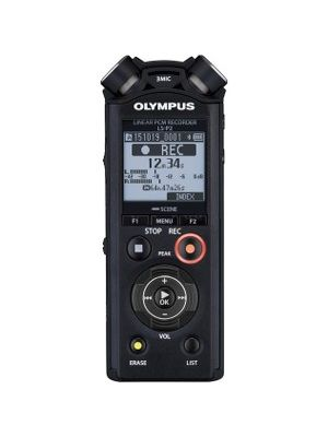 Olympus LS-P2 8GB Digital Voice Recorder with 3.5mm Headphone Jack - 8 GBmicroSD SupportedLCD - MP3 - Headphone - 253 HourspeaceRecording Time - Portable