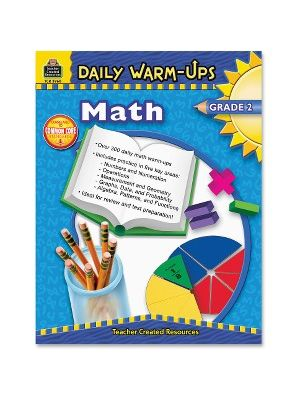 Teacher Created Resources Gr 2 Math Daily Warm-Ups Book Education Printed Book for Mathematics - Book - 176 Pages