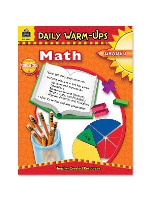 Teacher Created Resources Gr 3 Math Daily Warm-Ups Book Education Printed Book for Mathematics - Book - 176 Pages