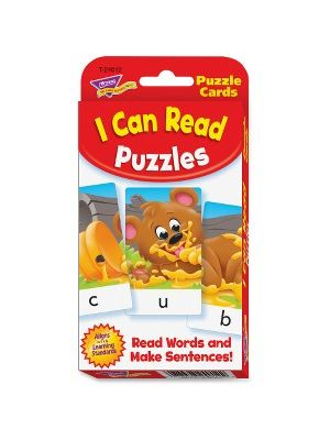 Trend I Can Read Puzzles Challenge Cards - Educational