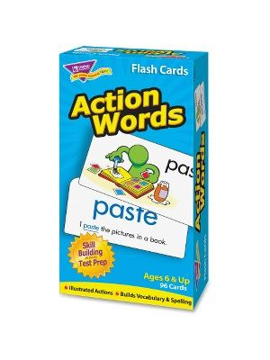 Trend Action Words Skill Drill Flash Cards - Educational