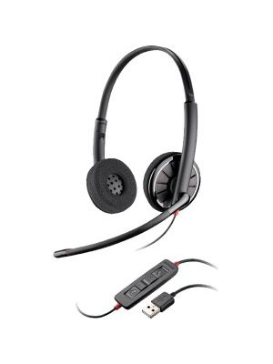 Plantronics Blackwire C320 Headset - Stereo - Wired - Over-the-head - Binaural - Supra-aural