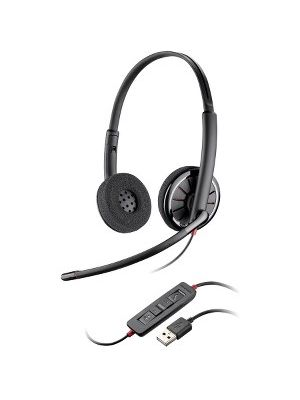 Plantronics Blackwire C320-M Headset - Stereo - Gray - USB - Wired - 20 Hz - 20 kHz - Over-the-head - Binaural - Supra-aural