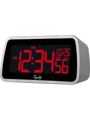 Equity 30451 Color-Changing LCD Alarm Clock - Digital - Electric