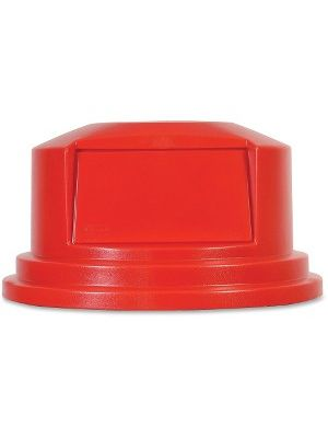 Rubbermaid Commercial 55-gal Brute Container Dome Top - Dome - Plastic - 1 Carton - Red