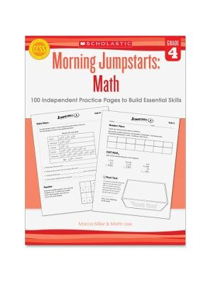 Scholastic Res. Grade 4 Morning Jumpstart Math Workbook Education Printed Book for Mathematics by Martin Lee, Marcia Miller - English - Published on: 2013 January 1 - Book - 112 Pages