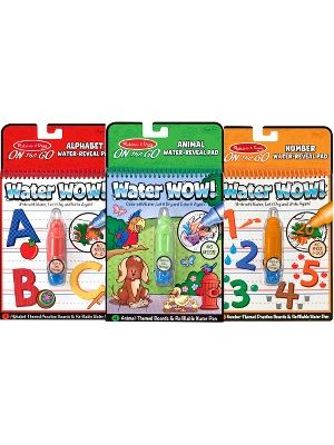 Melissa & Doug Water Wow Bundle Animals, Alphabet and Numbers Paint - Each Book Includes Themed Boards to Color and Write On - Plus Refillable Water Pen - Exciting Animal - Alphabet - Number Themes