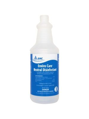 RMC Neutral Disinfectant Spray Bottle - 48 / Carton - Frosted Clear - Plastic