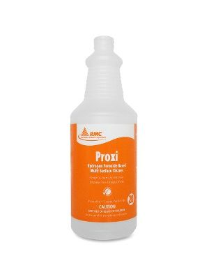 RMC Proxi Surface Clnr Spray Bottle - 48 / Carton - Frosted Clear - Plastic