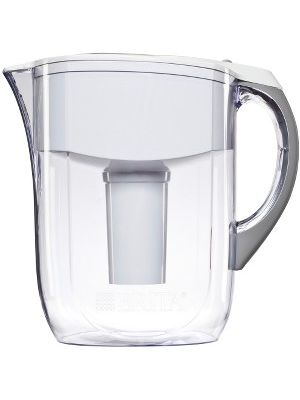 Brita Large 10 Cup Grand Water Pitcher with Filter - Pitcher - 40 gal - 1 Each - White