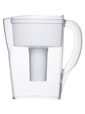 Brita 6-Cup Space Saver BPA-Free Water Pitcher with 1 Filter - Pitcher - 39.61 gal - 1 Each - White