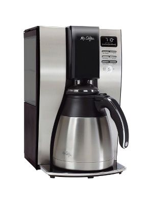 Mr. Coffee Classic Coffee 10-cup Thermal Coffeemaker - Programmable - 10 Cup(s) - Multi-serve - Black, Silver