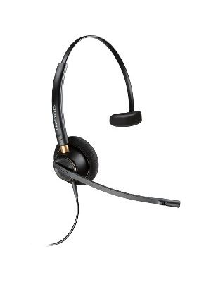 Plantronics Customer Service Headset - Mono - USB - Wired - Over-the-head - Monaural - Supra-aural - Noise Canceling