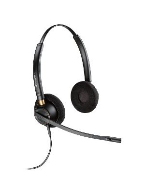 Plantronics Customer Service Headset - Stereo - USB - Wired - Over-the-head - Binaural - Supra-aural - Noise Canceling