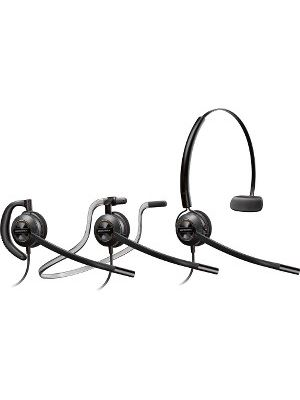 Plantronics Customer Service Headset - Mono - USB - Wired - Over-the-head, Behind-the-neck, Over-the-ear - Monaural - Supra-aural - Noise Canceling