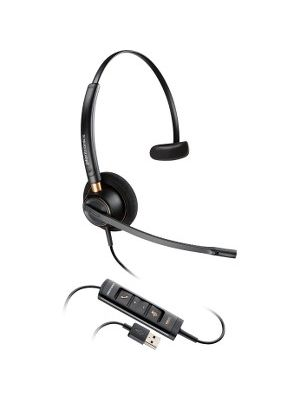 Plantronics Corded Headset with USB Connection - Mono - USB - Wired - Over-the-head - Monaural - Supra-aural - Noise Canceling