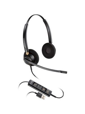 Plantronics Corded Headset with USB Connection - Stereo - USB - Wired - Over-the-head - Binaural - Supra-aural - Noise Canceling