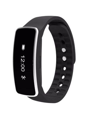 MYEPADS X64 Smart Band - Wrist - Pedometer - Alarm, Sleep Monitor - Sleep Quality, Steps Taken, Distance Traveled, Calories Burned - 64 KB - 64 KB Standard Memory - 64 x 32 - Bluetooth - Bluetooth 4.0 - 96 Hour - Black - Thermoplastic Polyurethane (TPU)