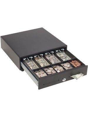 MMF 146T Touch Release Cash Drawer - 4 Bill - 5 Coin - 2 Media Slot - Steel - Black - 4