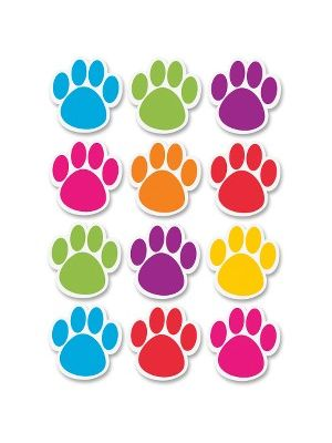 Ashley Dry Erase Paw-shaped Die-cut Magnets - Fun Theme/Subject - 12 (Paw) Shape - Magnetic - Write on/Wipe off, Die-cut, Heavy Duty, Damage Resistant, Long Lasting - Assorted - 1 Set