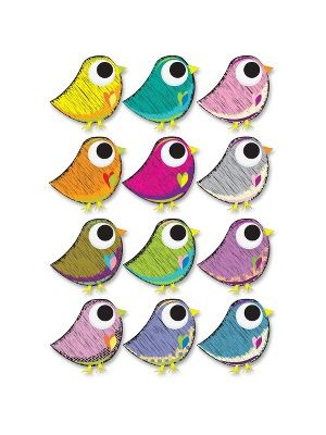Ashley Scribble Bird Design Dry Erase Magnet - Magnetic - Scribble Bird - Write on/Wipe off - Multicolor - 1 Set