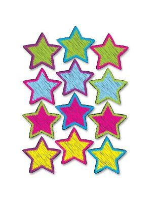 Ashley Scribble Star Design Dry-erase Magnet - Magnetic - Scribble Star - Write on/Wipe off - Multicolor - 1 Set