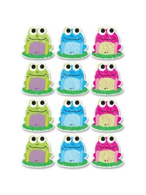 Ashley Scribble Frog Design Dry-erase Magnet - 12 (Frog) Shape - Magnetic - Write on/Wipe off - Multicolor - 1 Set