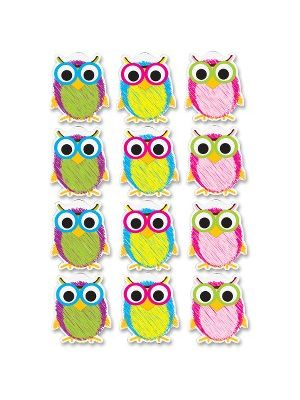Ashley Scribble Owls Design Dry-erase Magnet - Magnetic - Scribble Owls - Write on/Wipe off - Multicolor - 1 Set