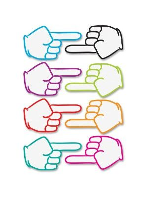 Ashley Pointing Fingers Dry Erase Magnets - Magnetic - Pointing Fingers - Write on/Wipe off, Die-cut - Multicolor - 1 Set