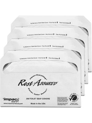 Impact Products Toilet Seat Covers - Half-fold - 250 / Pack - 1000 / Carton - Paper - White