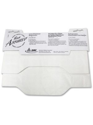 Impact Products Lever Dispensed Seat Covers - Quarter-fold - 125 / Pack - Paper - White