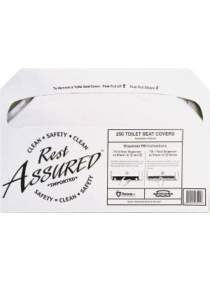 Impact Products Rest Assured Half Fold Toilet Seat Covers - Half-fold - 1000 / Carton - White