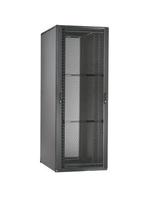 Panduit Net-Access N Rack Cabinet - 45U Wide for LAN Switch, Patch Panel - Black