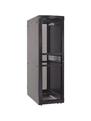 Eaton RSVNS5260B Rack Cabinet - 52U Wide for Server, Patch Panel, LAN Switch, PDU - Black - Metal - 2000 lb x Dynamic/Rolling Weight Capacity - 3000 lb x Static/Stationary Weight Capacity - TAA Compliant