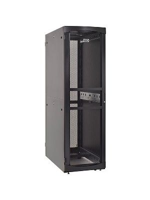 Eaton RSVNS5282B Rack Cabinet - 52U Wide for Server, Patch Panel, LAN Switch, PDU - Black - Metal - 2000 lb x Dynamic/Rolling Weight Capacity - 3000 lb x Static/Stationary Weight Capacity - TAA Compliant