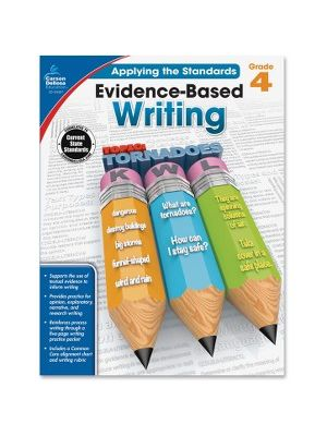 Carson-Dellosa Grade 4 Evidence-Based Writing Workbook Education Printed Book for Art - Book - 64 Pages