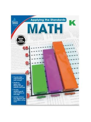 Carson-Dellosa Grade K Applying the Standards Math Workbook Education Printed Book for Mathematics - Book - 64 Pages