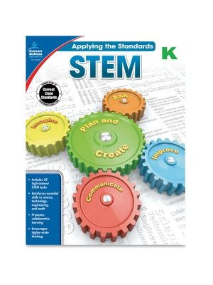 Carson-Dellosa Grade K Applying the Standards STEM Workbook Education Printed Book for Science - Book - 64 Pages