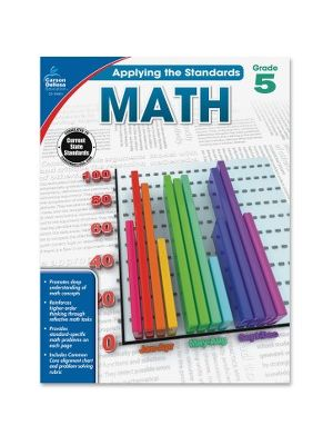Carson-Dellosa Grade 5 Applying the Standards Math Workbk Education Printed Book for Mathematics - Book - 64 Pages