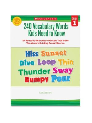 Scholastic Res. Grade 1 Vocabulary 240 Words Book Education Printed Book for Science/Social Studies by Kama Einhorn - Book