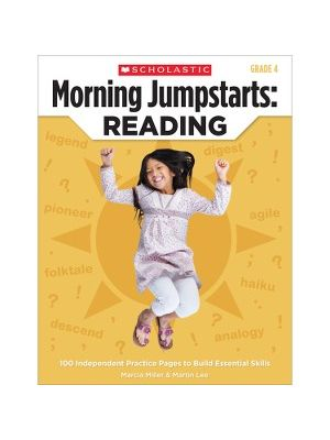 Scholastic Res. Grade 4 Jump Starts Reading Book Education Printed Book by Martin Lee, Marcia Miller - English - Book - 112 Pages