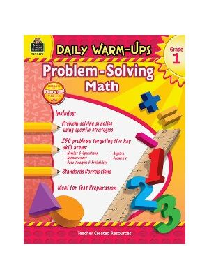 Teacher Created Resources Gr 1 Daily Math Problems Book Education Printed Book for Mathematics - Book - 176 Pages