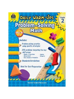Teacher Created Resources Gr 2 Daily Math Problems Book Education Printed Book for Mathematics - Book - 176 Pages