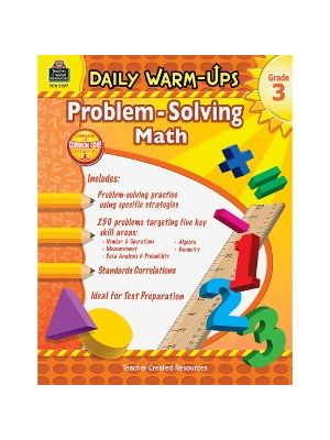 Teacher Created Resources Gr 3 Daily Math Problems Book Education Printed Book for Mathematics - Book - 176 Pages